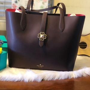 ♠️Kate Spade Kaci Chocolate Cherry Medium Tote
